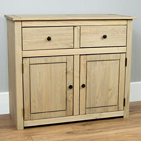 Home Discount Panama Sideboard 2 Door 2 Drawer Natural Wax Oak Solid Furniture : door wax - pezcame.com