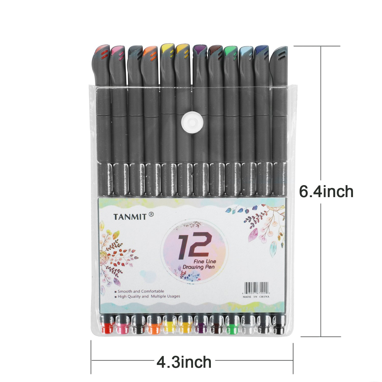 Bullet Journal Planer Pens Fine Tip Drawing Pens Porous Fine Point Makers Fineliner Pen for Coloring Books Writing Noting Calendar School Art Projects (18 Color) by TANMIT (Image #6)