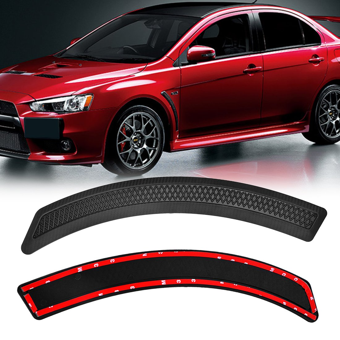 EVO 10 X Style Mesh PP Fender Side Vent Cover for 2008-2015 Mitsubishi Lancer