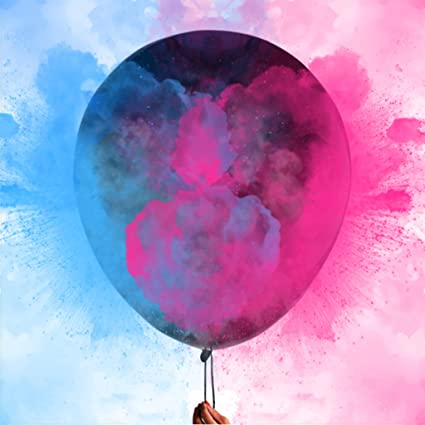 Amazoncom 36 Gender Reveal Powder Balloons Come With 50g Pink