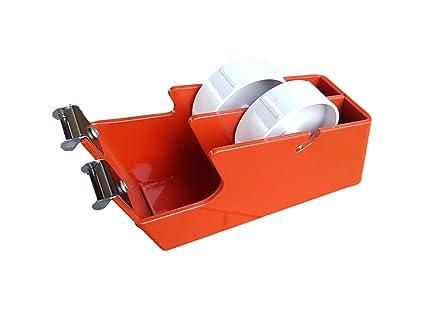 Dispensador de cinta de embalaje de alta resistencia 25 + 25 mm de ancho mesa escritorio