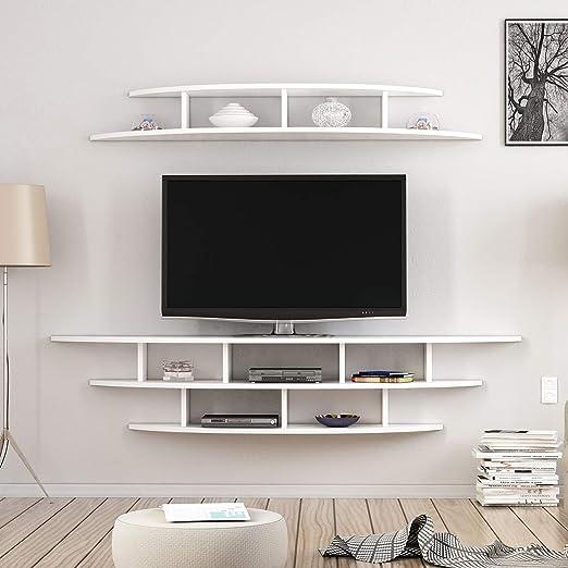 Homemania Mueble para TV Alvino, Madera, Blanco, 176 x 35 x 35 cm – 147 x 29 x 18 cm: Amazon.es: Juguetes y juegos