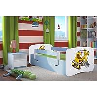 Kocot Kids Kinderbett Jugendbett 70x140 80x160 80x180 Blau mit Rausfallschutz Matratze Schubalde und Lattenrost Kinderbetten für Junge