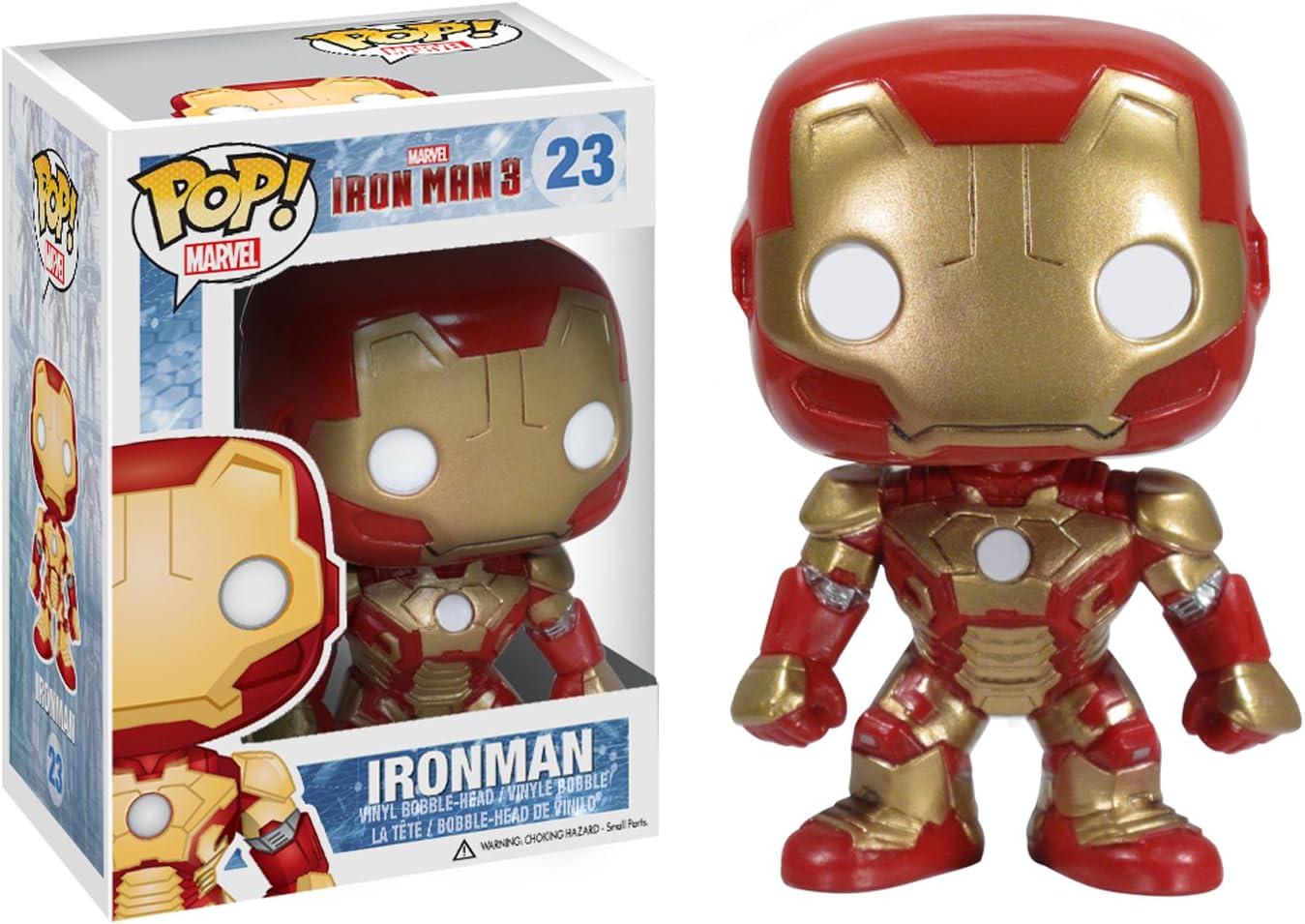 "Avengers Iron Man Light Up 3.75"" Bobble Head Action Figure"