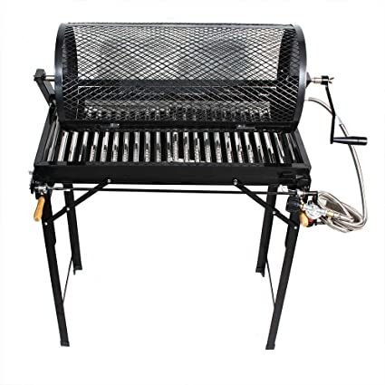 5 Burner Hatch Rotating Chili Roaster With Portable BBQ Stand & Regulator CR-BARBACOA