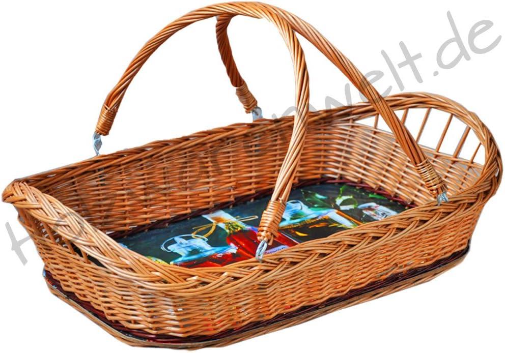 Rattantablett Weidentablett Tablett Weide Obst Brot Gebäck Rattankorb K2-038