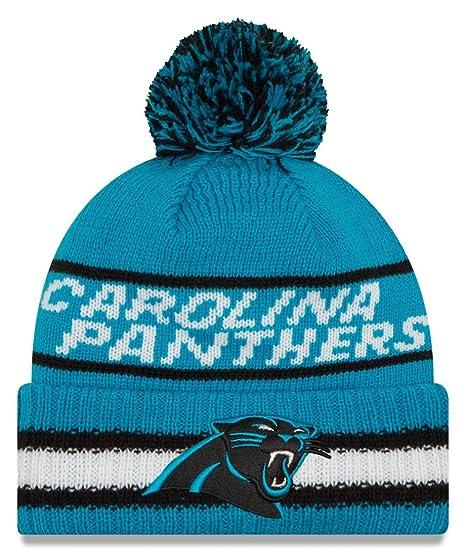 New Era Carolina Panthers Vintage Select Pom Knit Beanie Hat Cap Bright Blue 721787dc1