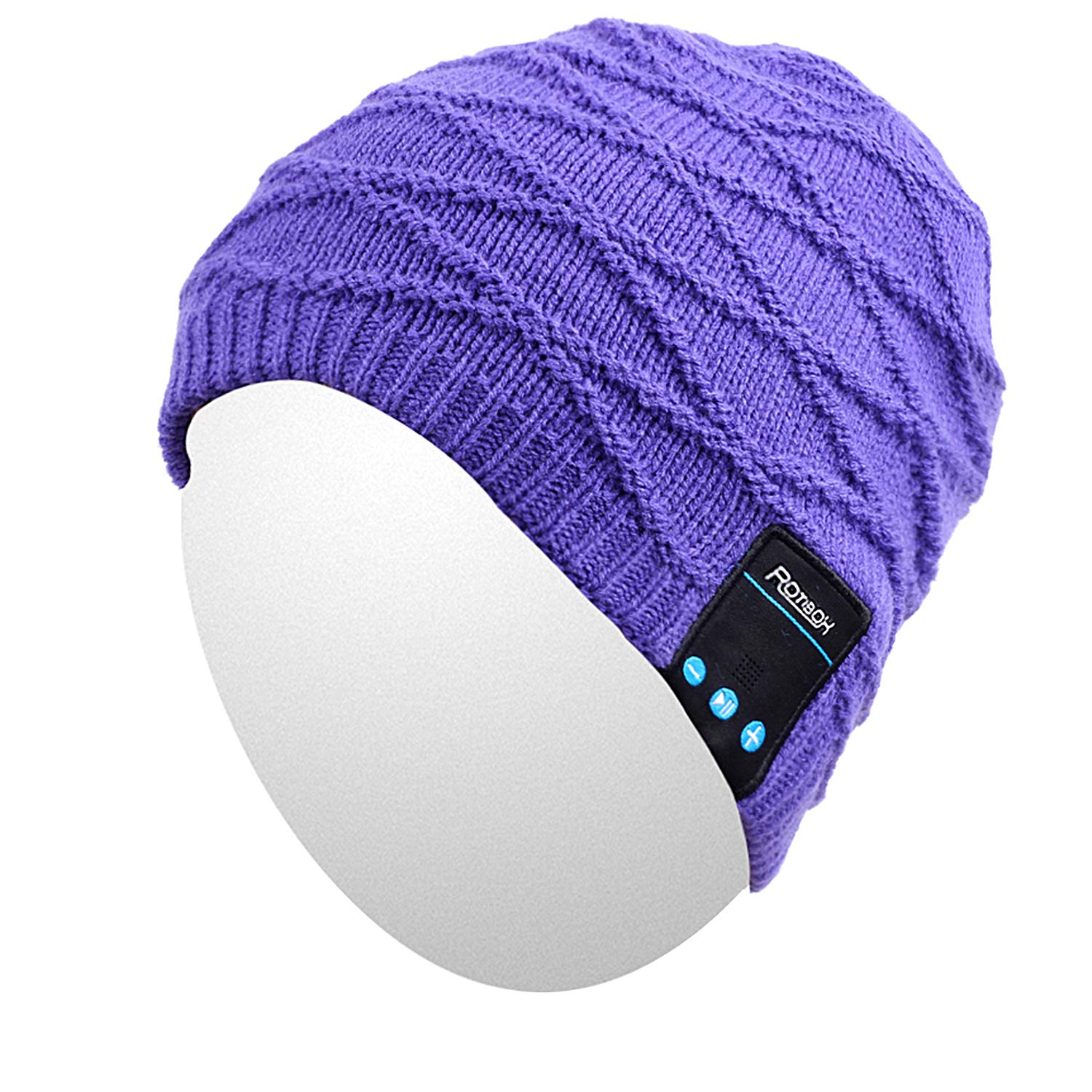 Qshell Outdoor Bluetooth Beanie Hat Slouchy Knit Skully Cap with Wireless Bluetooth Headphone Headset Earphone Music Audio Hands-Free Phone Call for Winter Sports Fitness Gym Exercise Workout-Black by Qshell