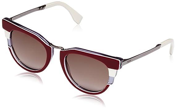 Amazon.com: Fendi Art Deco Cateye anteojos De Sol En La ...