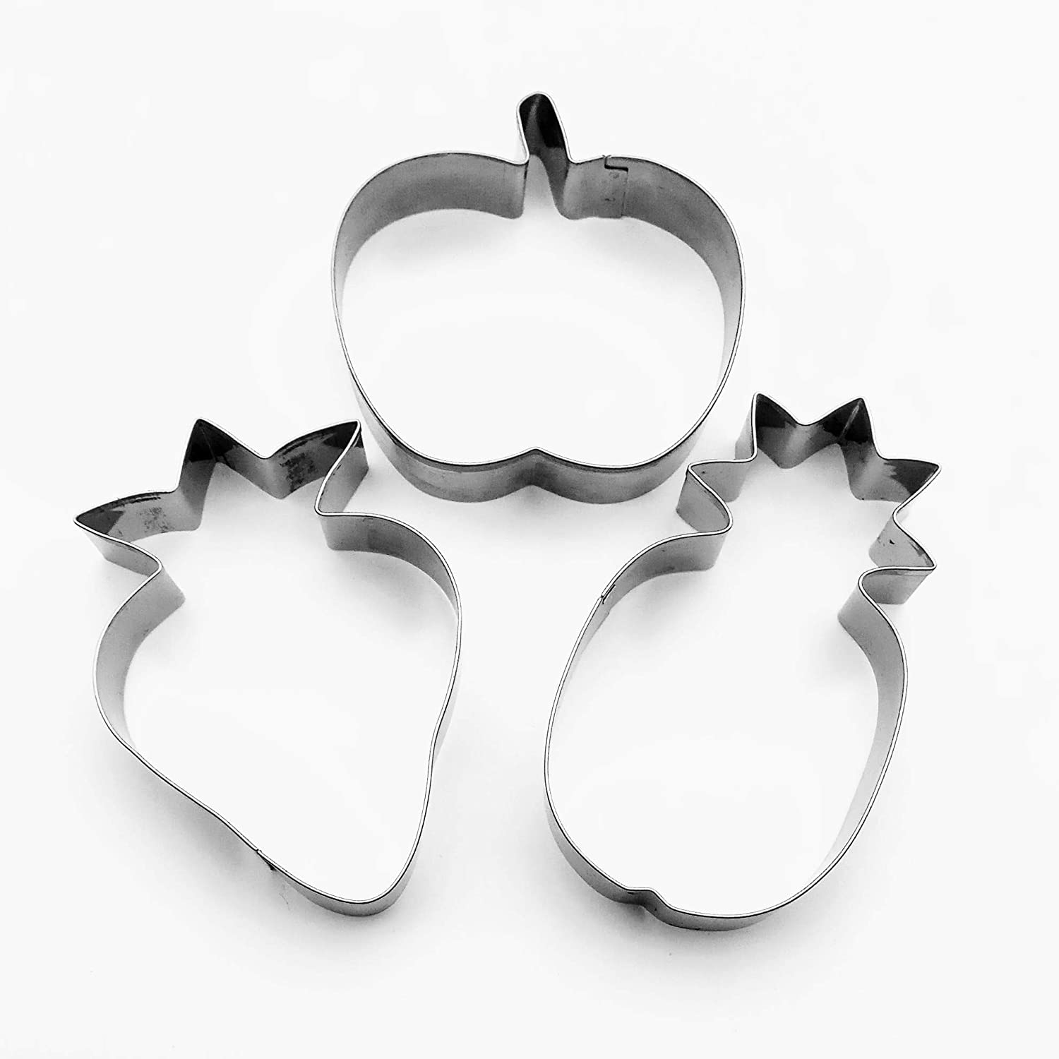 Fruits Cookie cutter Pineapple Strawberry Apple Biscuit Stainless Steel Baking Mold Set