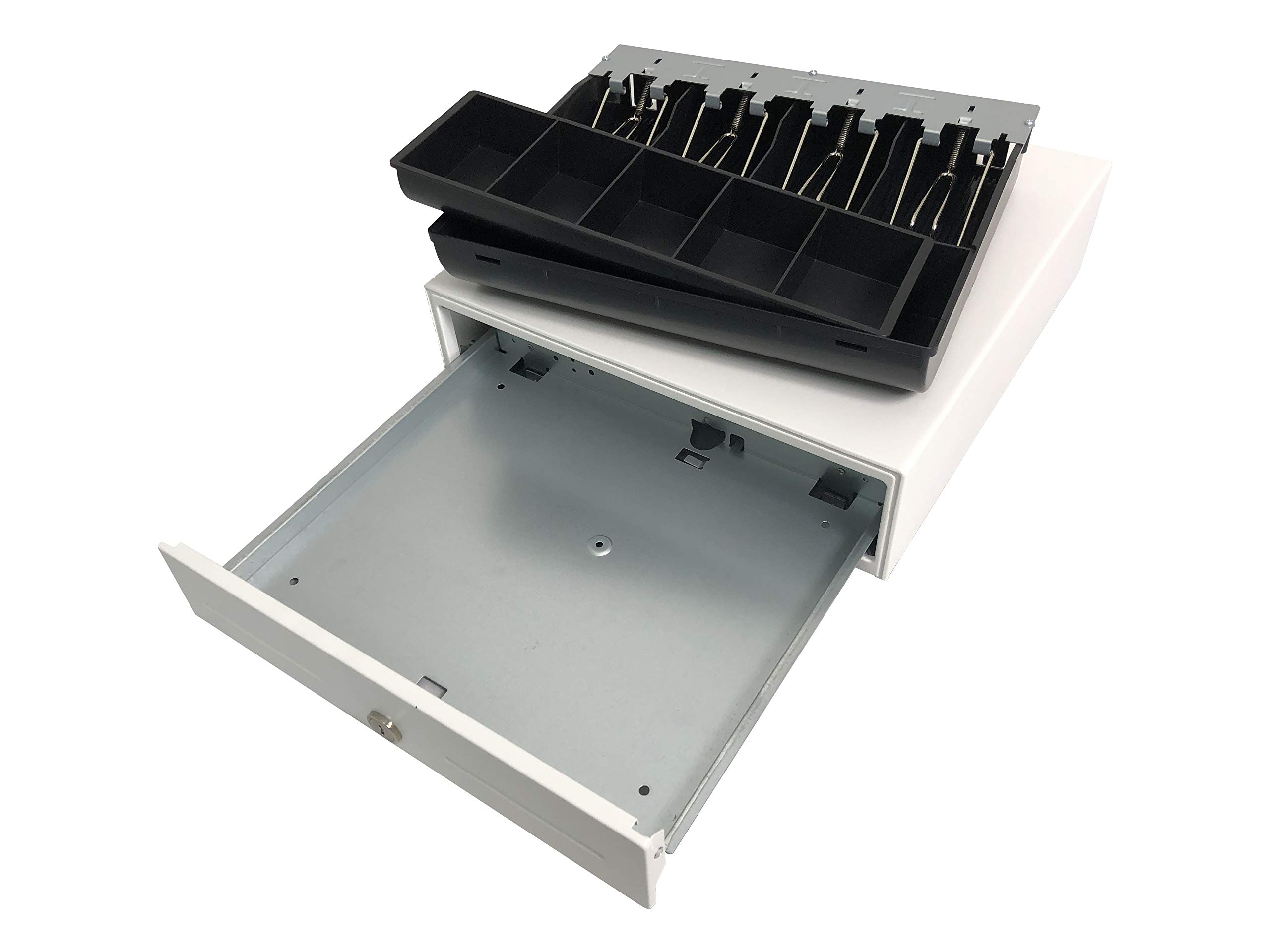 HK SYSTEMS 13'' Heavy Duty Compact White Manual Push-Open Cash Drawer with 4 Bill /5 Coin Till by HK SYSTEMS (Image #5)