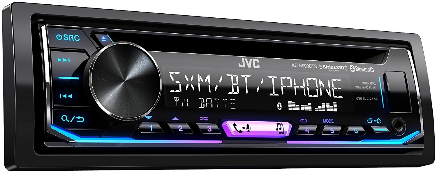 Jvc Kd R990bts 1 Din Cd Receiver Featuring Bt Usb 13 Kds 19 Radio Wiring Diagram Band Eq Home Audio Theater