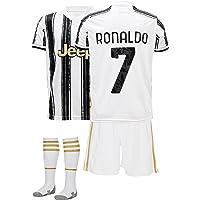 AMD SPORTS Juve Camiseta para niños Ronaldo Viene con Pantalones Cortos y Calcetines, edición hogar Tallas para niños (3…