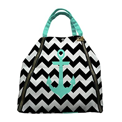87b9d75adae Amazon.com  Custom Anchor On Zig Zag Chevron Canvas Shoulder Bags Handbags  Tote Bags Shopping Bag  Shoes