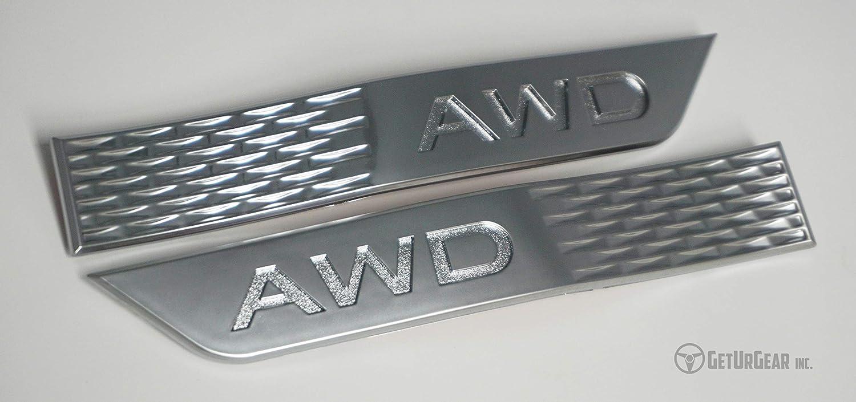 Gloss Black, Yellow AWD GetUrGear Fender Emblem Badge compatible with 2015 WRX//STI