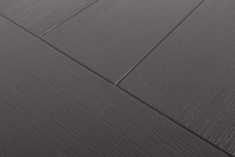 XONE Tavolo Pieghevole Stampo Legno Grigio con Struttura in Metallo e Piano in Resina Dimensioni Tavolo 180x75,5x74cm per Interni e Giardino