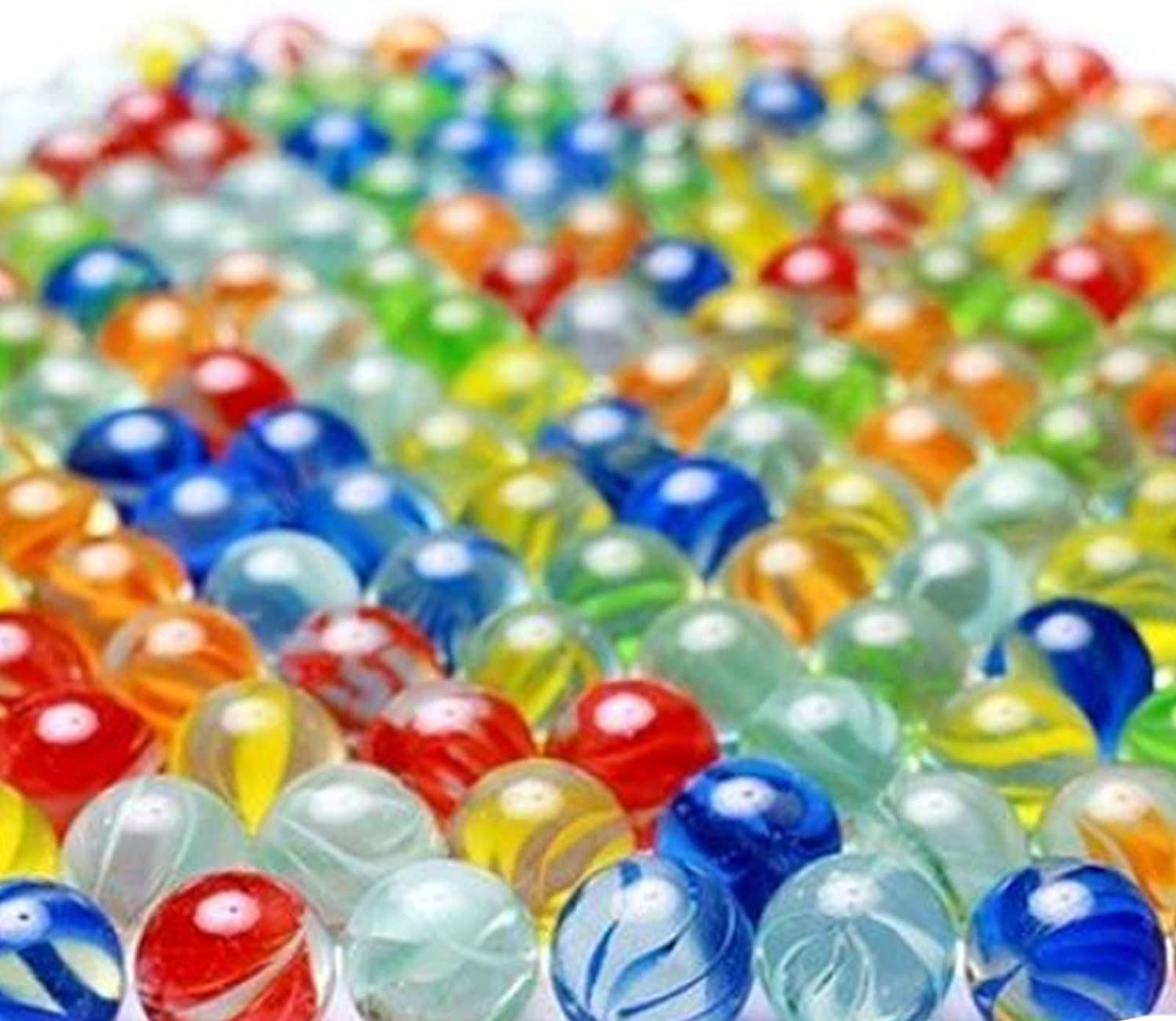 25mm//1 inch 30 Piece Color Mixing Glass Marbles Bulk for Kids Marble Games DIY and Home Decoration Glass Marbles