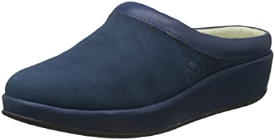 FLY London Damen Beak809fly Pantoletten, Blau (Blue), 37 EU