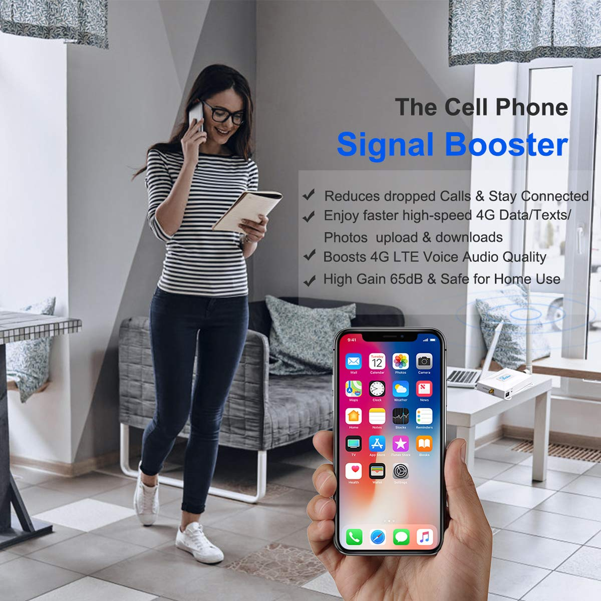 Cellular Increase 4g Data Cell Service Antennas Yagi Whip At T Cricket Cell Signal Booster 4g Lte Cell Phone Signal Booster Amplifier Home 700mhz Band 12 17 At T Signal Booster Repeater Cricket U S Signal Boosters
