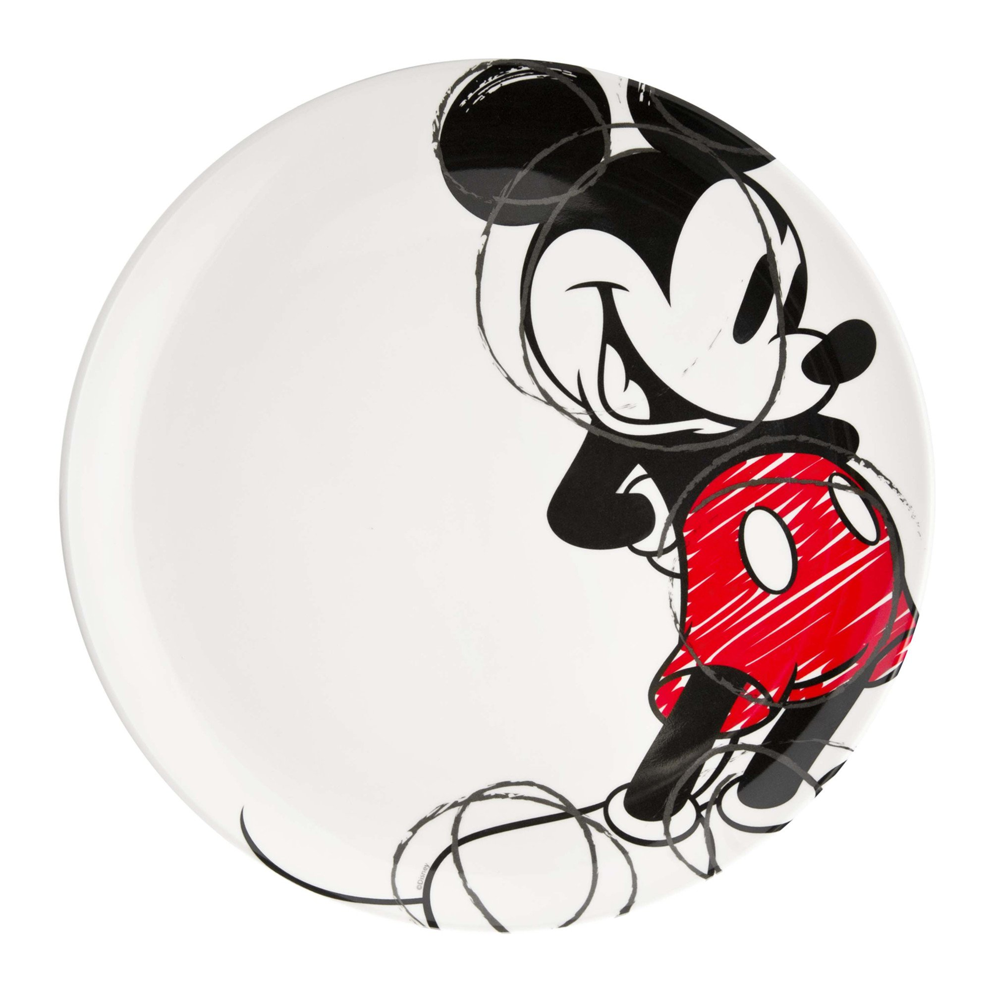 Zak Designs Mickey & Minnie Mouse 10-inch Plastic Plate, Mickey Mouse