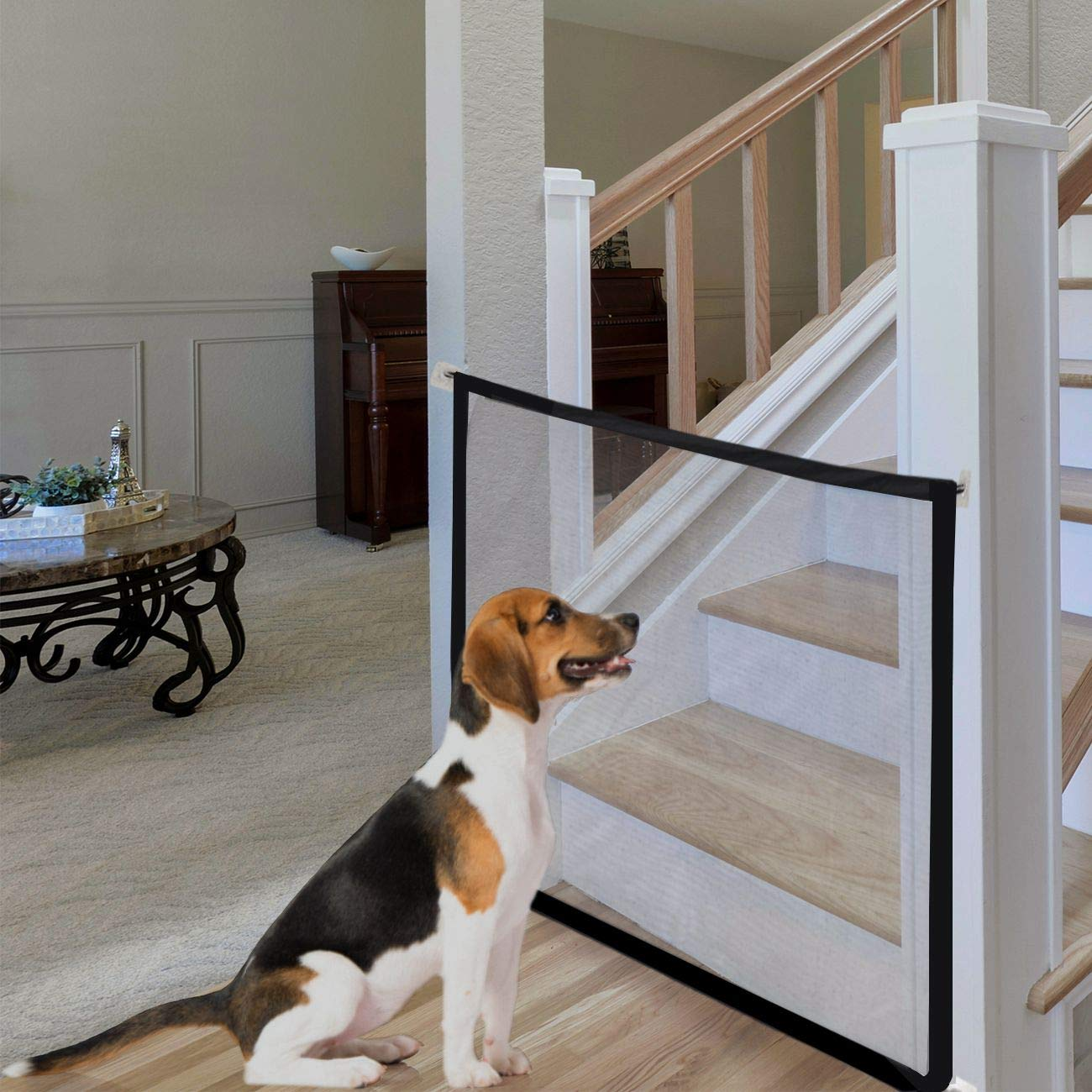 Magic Gate for Dog, Portable Folding Mesh Gate, Safety Guard for Pet, Safety Fence for Baby, Safe Guard for Hall Doorway
