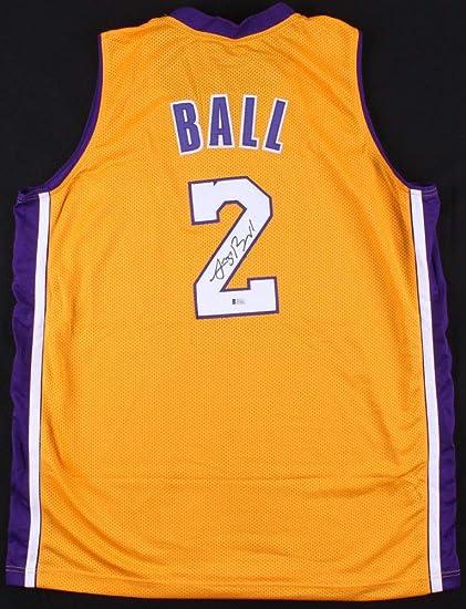 promo code 5b63c aabab Lonzo Ball Signed Nike LA Lakers Jersey BAS Beckett at ...