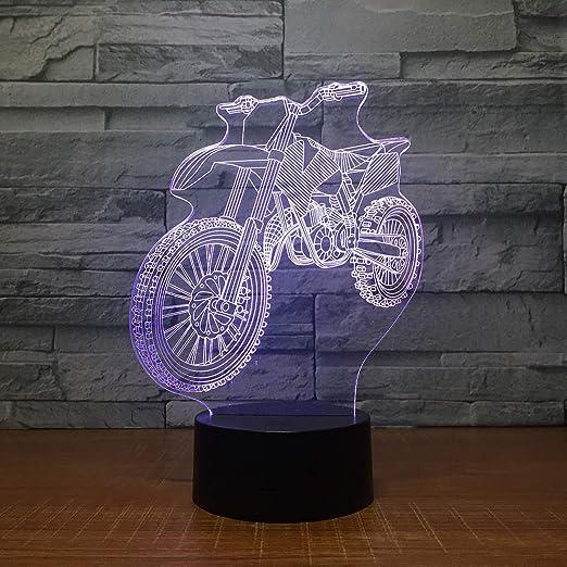 Luz de noche LED 3D / Luz de 7 colores para lámpara de ...