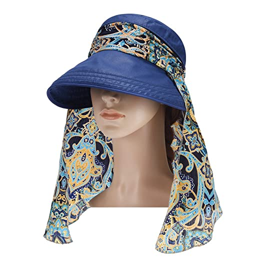 Vbiger Visor Hats Wide Brim Cap UV Protection Summer Sun Hats For Women  (Navy Blue 2) at Amazon Women s Clothing store  ff8ef663d47