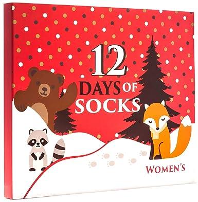12 days of socks womens forest animals socks 12 pack size 4 10