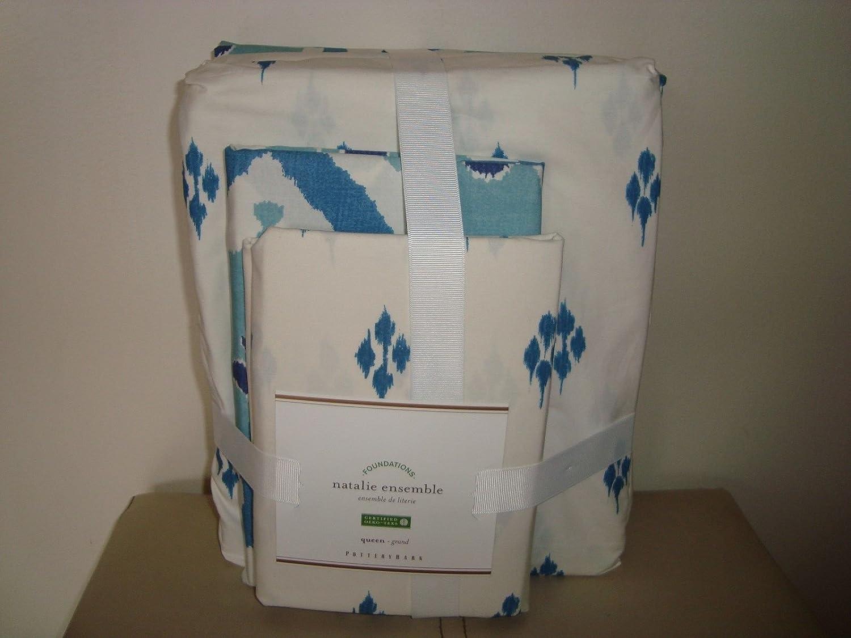 Pottery Barn Natalie Bedding Set Duvet Sheet Set Queen New Sel