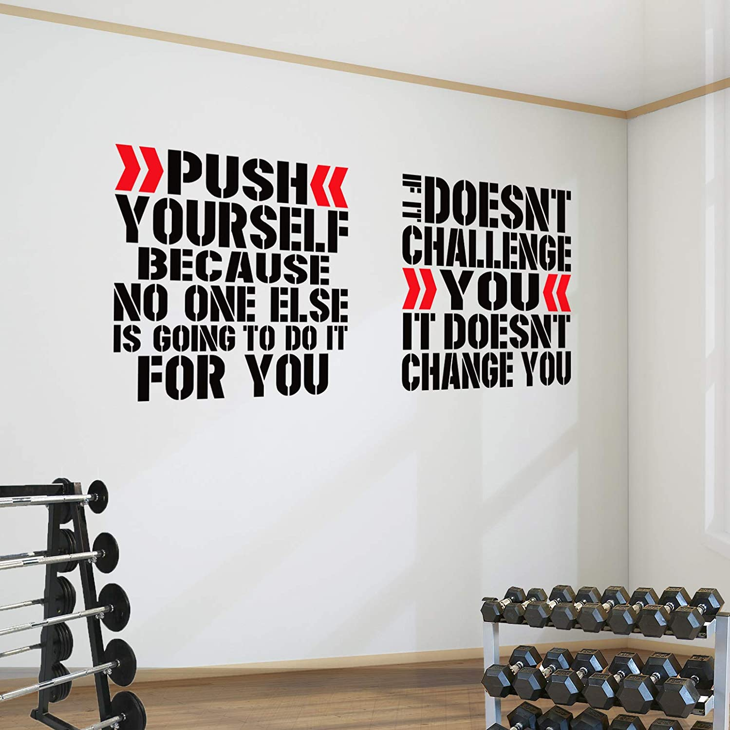 Walls /& Signs Any Colour /& size Gym Man /& Woman Sign Decal Sticker for Windows
