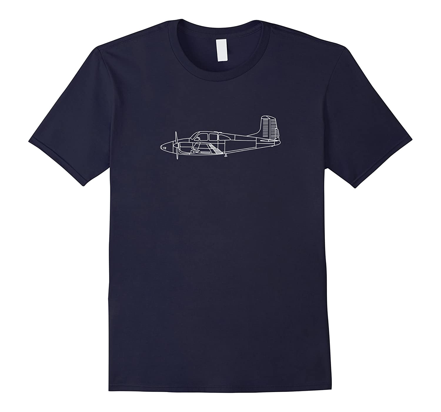 The Model 95 Classic Twin Airplane Pilot Shirt Front  Back-TD