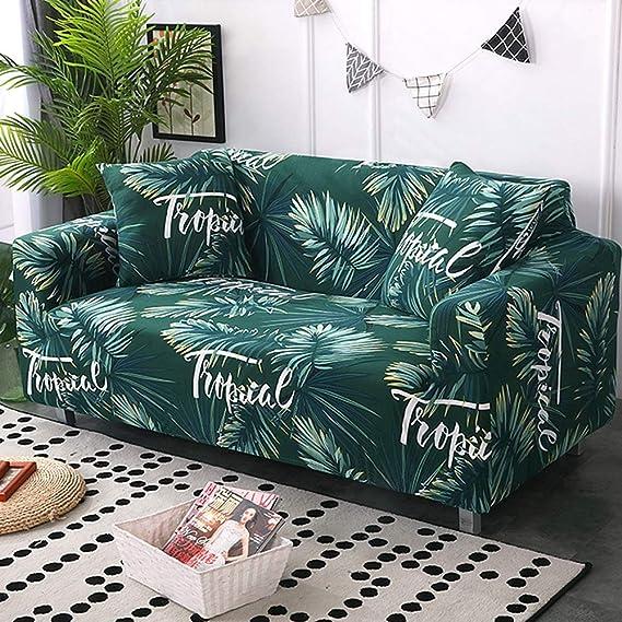 Amazon.com: Fundas universales para sofá con diseño de hoja ...