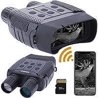 Prismáticos de visión nocturna con WiFi,binoculares infrarrojos digitales para equipo espía completamente oscuro…