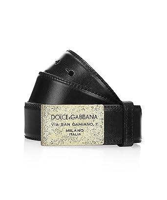 D G - Ceinture Homme - cuir de veau noir - Dolce   Gabbana  Amazon ... dc48837b701