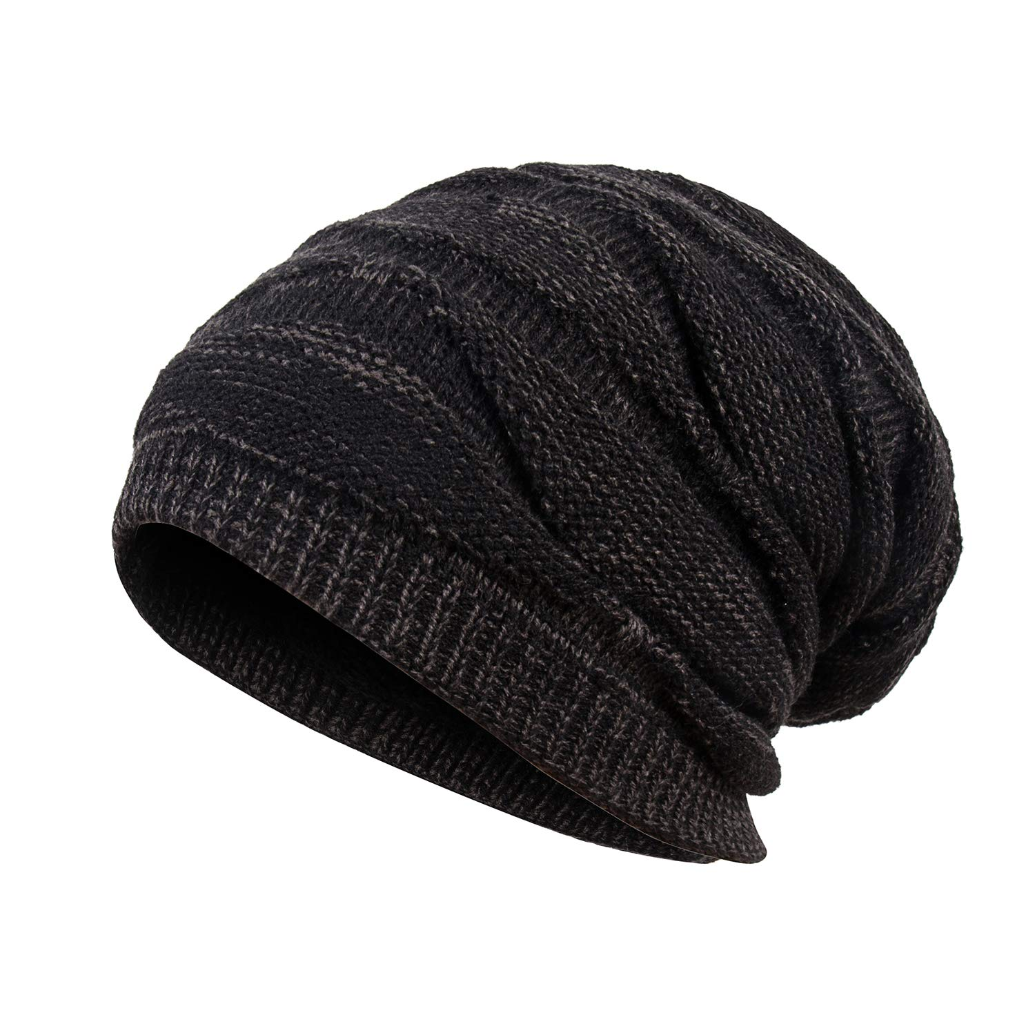 8b75961c8 Mens Winter Plus Velvet Warm Knitting Hats Wool Baggy Slouchy Beanie Hat  Skull Cap Ski Cap