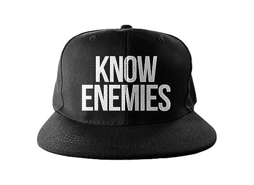 Know Enemies Swag Hip Hop impresión Snapback Sombrero Gorra Tapa ...