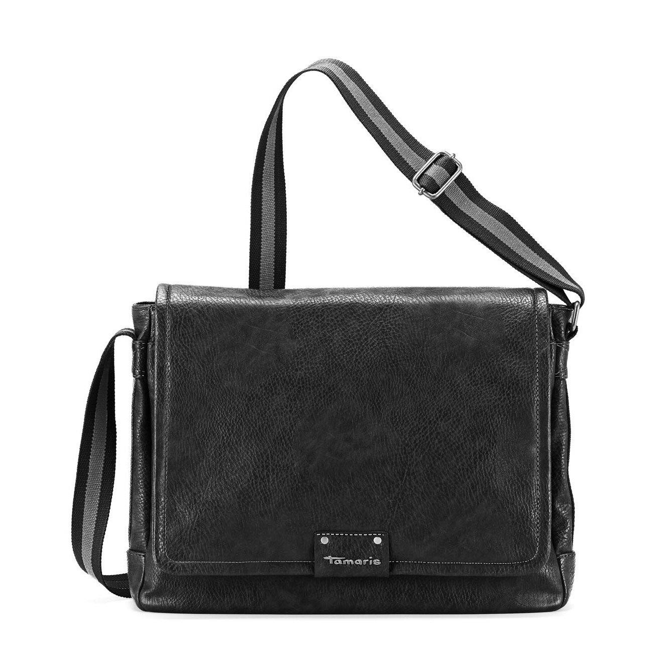 Tamaris KRIS Messengerbag, Schultertasche, bis DIN A4, 4 Farben: schwarz, cognac braun, mocca braun oder graphite grau