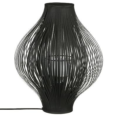 Tissus Noir Et De Poser Métal À Lamelles Coloris Lampe Design 1JcFTlK