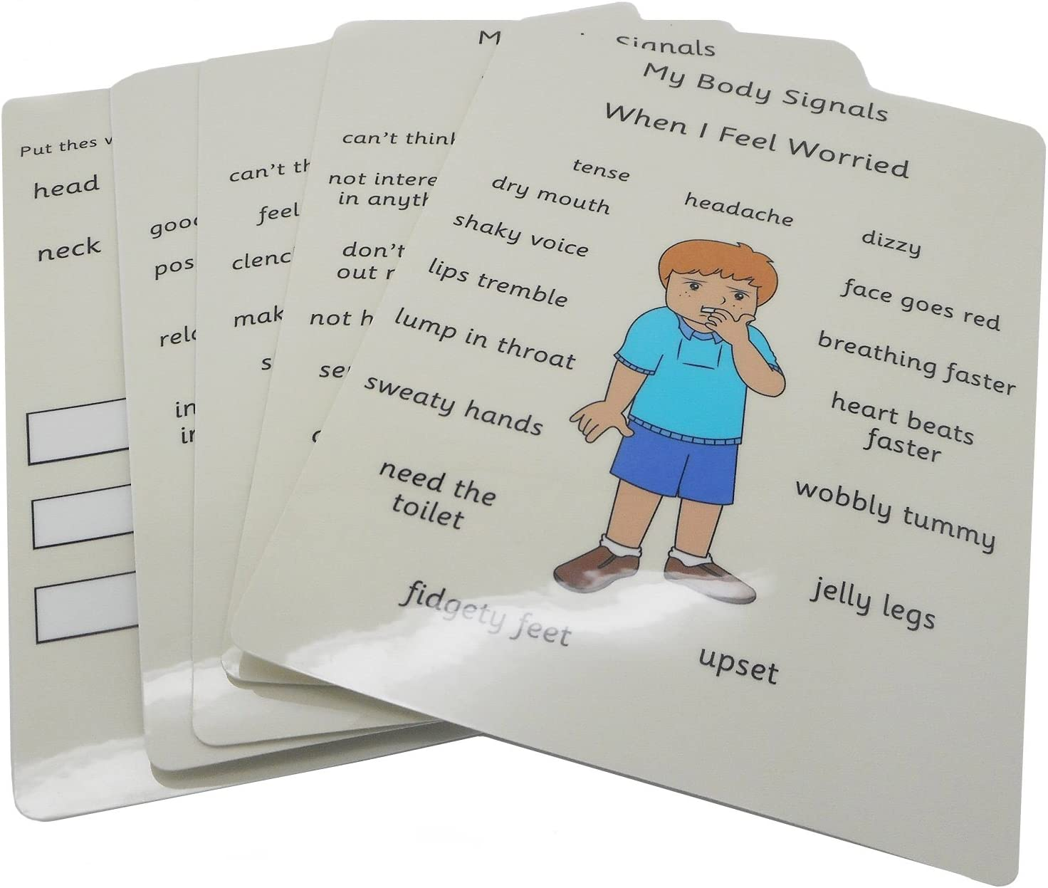 Autism // SEN // AAC // ASD George - Visual Aid Resource Feelings /& Emotions My Body Signals Cards
