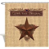 CafePress - Primitive Star - Decorative Fabric Shower Curtain