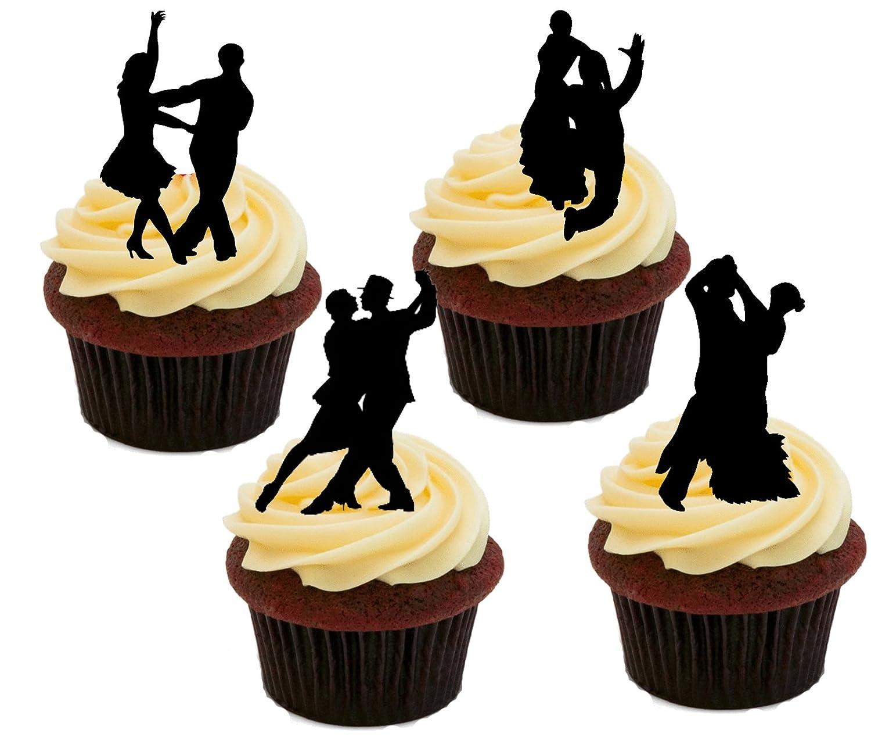 Salón de baile Dancing siluetas, decoración para tartas stand-up ...