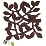 Dulce Cocina Chocolate Twigs Coasters Drink Absorbent Large Set of 6