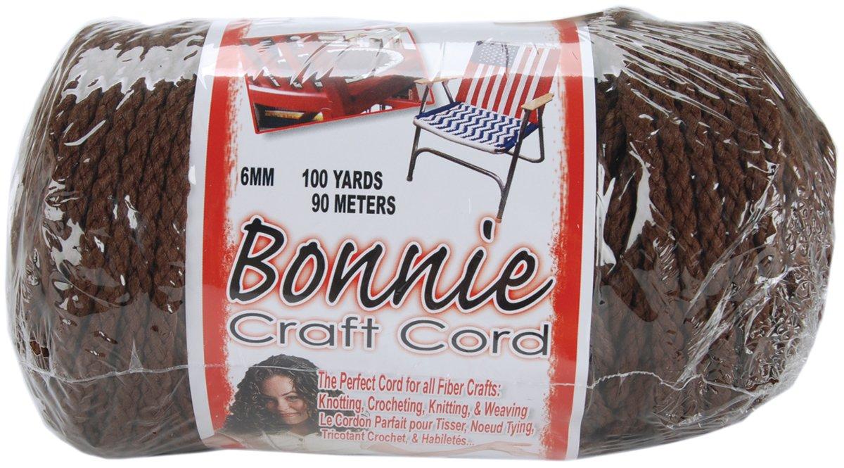 Pepperell BB6-100-042 6mm Bonnie Macramé Craft Cord, 100-Yard, Black Notions - In Network 257503