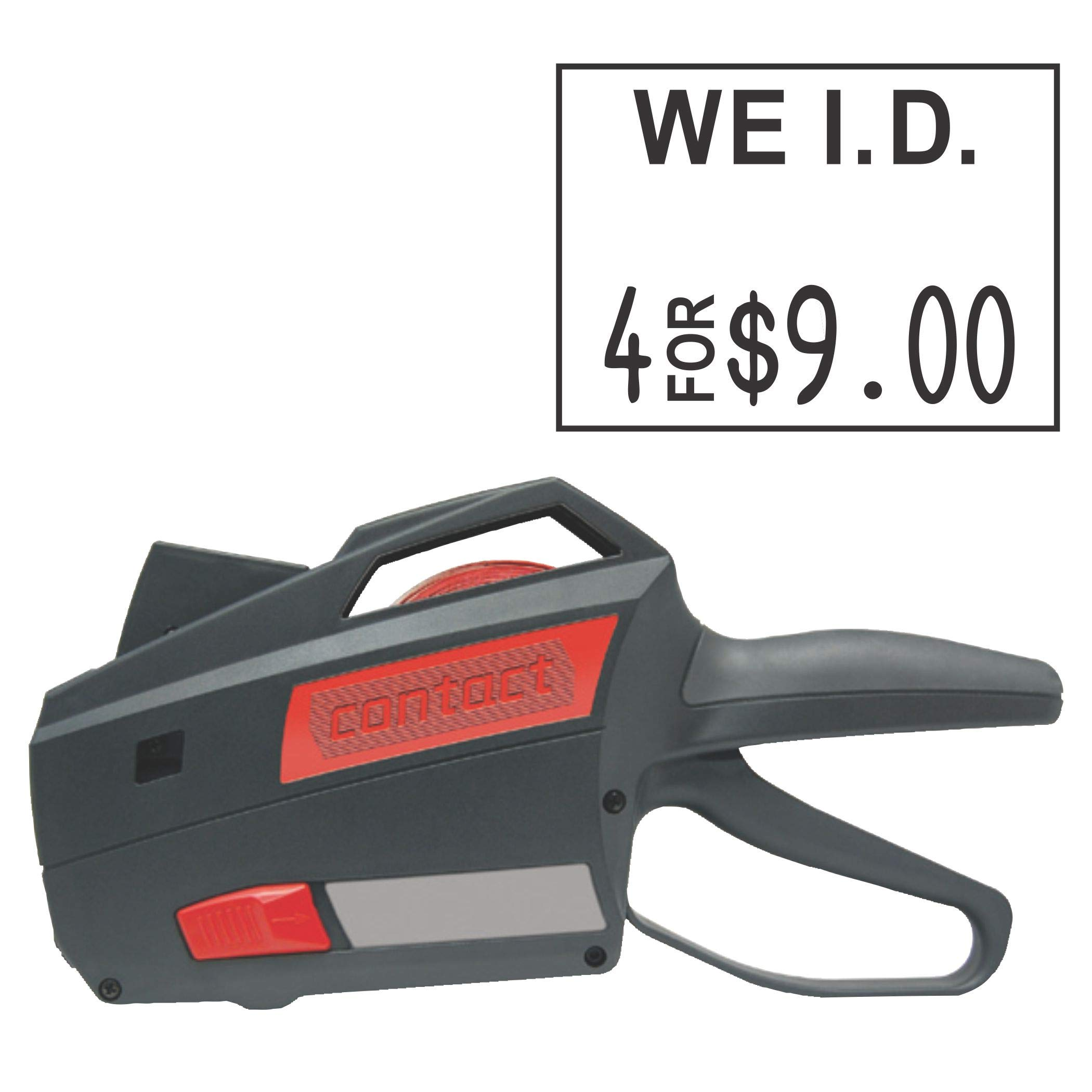 Contact Price Tagging Gun, Model 22.16, 2-Line, Word Band Price Tag Gun, Includes 1 Pricing Gun and pre-Loaded with Over 1,100 Standard (White) Price Stickers. Label Size: (HxW) 16mm x 22mm by Contact Label (Image #1)