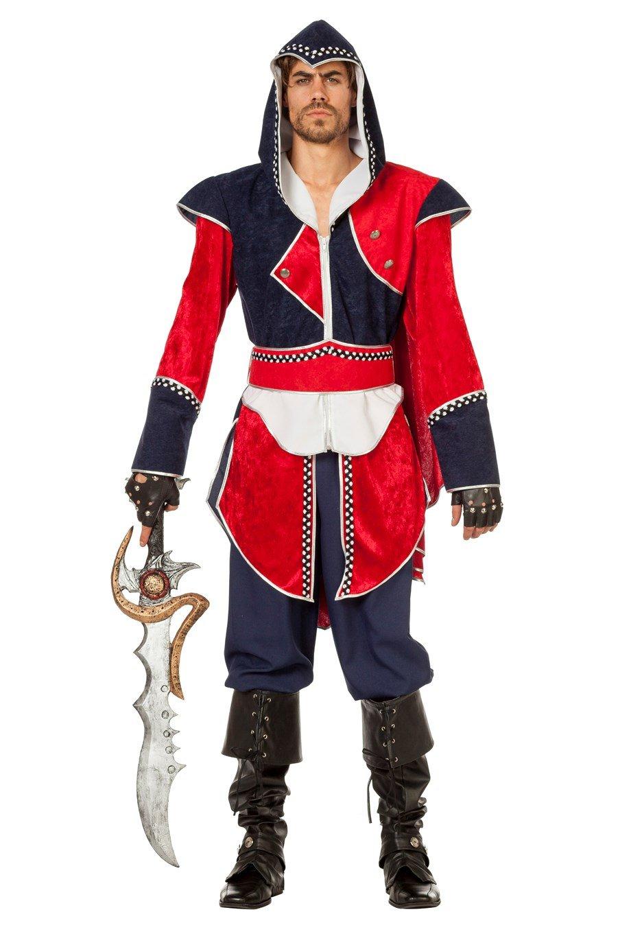 Wilbers 5429 Assassin Abenteuer Kostüm Herren Assassine Herrenkostüm 60