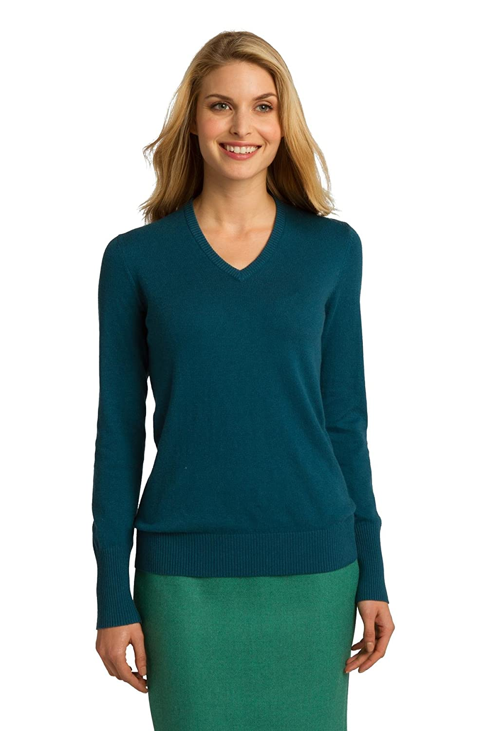 Amazon.com: Port Authority Women's VNeck Sweater: Clothing