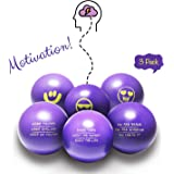Motivational Stress Balls for Stress Relief | 3 Pack Fidget Toy for Adults and Kids | Inspirational Fidget Accessory for Stress Relief, Anxiety Control, Motivation, Concentration and Focus