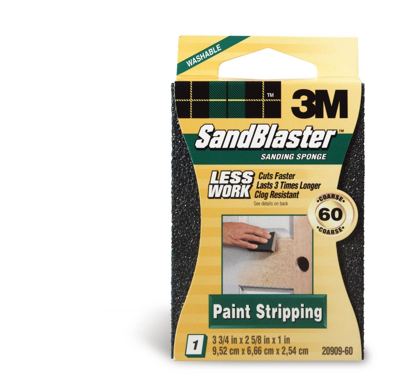 3M P60 SandBlaster Coarse Sanding Sponge for Paint Stripping Pack of 1