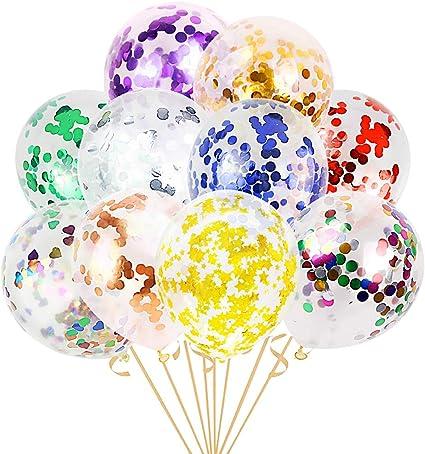 Globos Decoración Fiesta-Cumpleaños Globos Confeti Arco Iris y compromiso